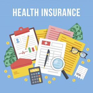 Graphic explaining revenue cycle management through health insurance
